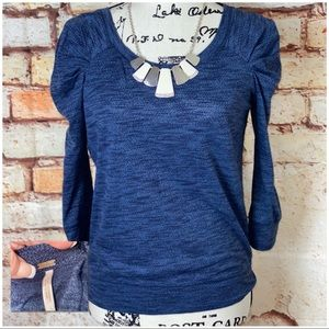 FREE PEOPLE | LIKE NEW | Exaggerated Shoulder Top